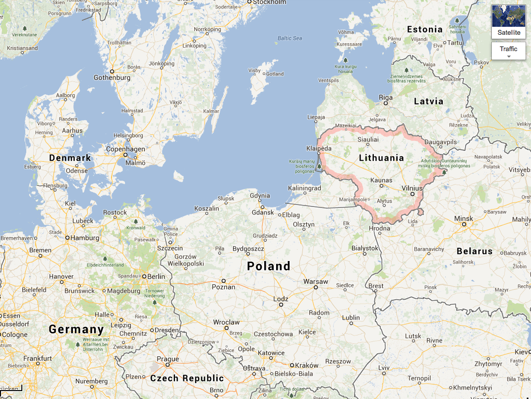 MondayMap Your Taxes And Google Street View TheDiagonal - Vilnius maps google