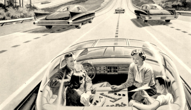 1957-driverless-car