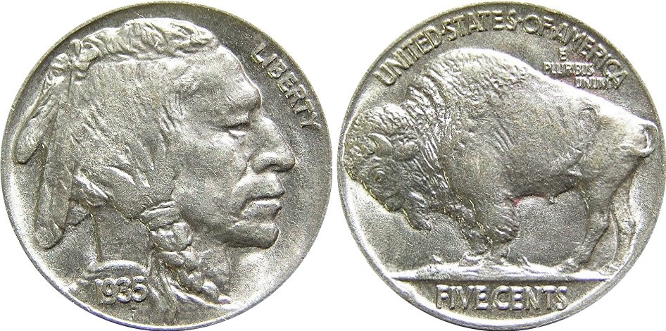 1935_Indian_Head_Buffalo_Nickel