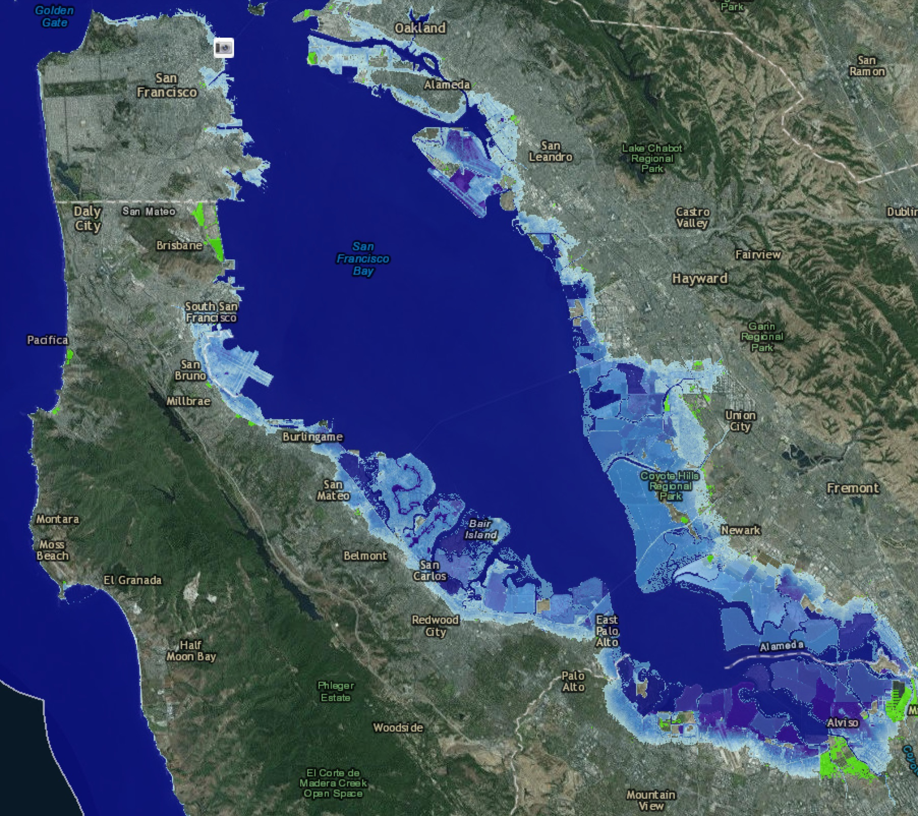 NOAA-Silicon-Valley-seal-level-rise-map