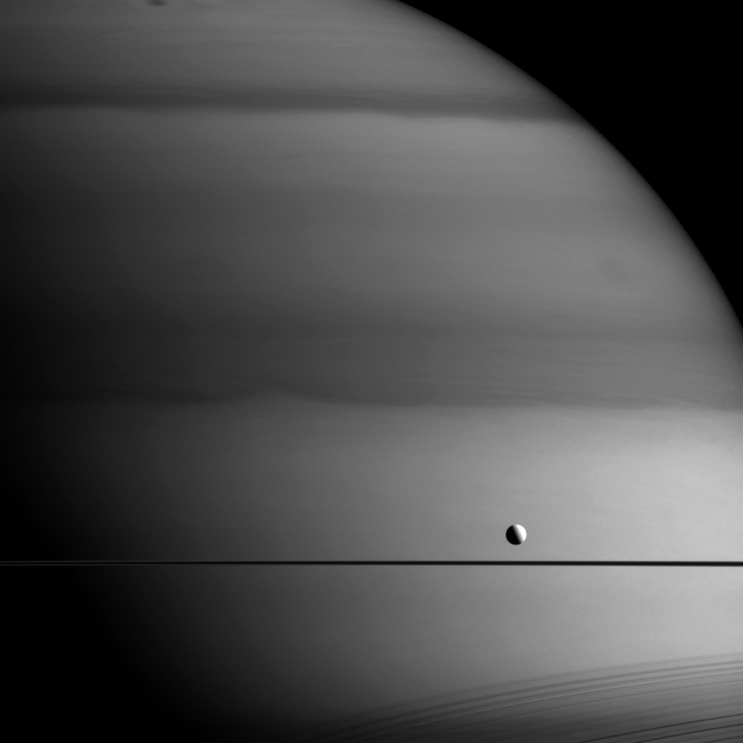 Dione-transit-of-Saturn